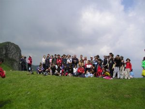 Charity sponsored walk in the Balkan mountain, 2005