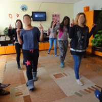 ZOV Saturday Club for Girls at Risk in sheltered accommodation: dancing and singing